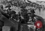Image of American gun crew firing 105mm howitzer Germany, 1945, second 38 stock footage video 65675072467