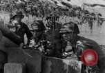 Image of American gun crew firing 105mm howitzer Germany, 1945, second 40 stock footage video 65675072467