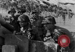 Image of American gun crew firing 105mm howitzer Germany, 1945, second 41 stock footage video 65675072467