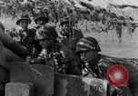 Image of American gun crew firing 105mm howitzer Germany, 1945, second 42 stock footage video 65675072467