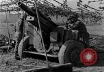 Image of American gun crew firing 105mm howitzer Germany, 1945, second 43 stock footage video 65675072467