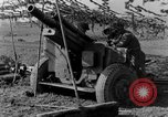 Image of American gun crew firing 105mm howitzer Germany, 1945, second 44 stock footage video 65675072467