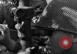 Image of American gun crew firing 105mm howitzer Germany, 1945, second 51 stock footage video 65675072467