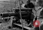 Image of American gun crew firing 105mm howitzer Germany, 1945, second 55 stock footage video 65675072467