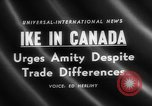 Image of Dwight D Eisenhower Ottawa Ontario Canada, 1958, second 3 stock footage video 65675072511