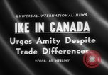Image of Dwight D Eisenhower Ottawa Ontario Canada, 1958, second 4 stock footage video 65675072511
