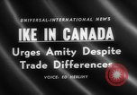 Image of Dwight D Eisenhower Ottawa Ontario Canada, 1958, second 5 stock footage video 65675072511