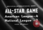Image of Major League Baseball 25th All Star Game Baltimore Maryland USA, 1958, second 3 stock footage video 65675072512