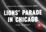 Image of Lions Clubs International parade Chicago Illinois USA, 1958, second 1 stock footage video 65675072516