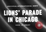 Image of Lions Clubs International parade Chicago Illinois USA, 1958, second 4 stock footage video 65675072516