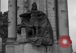 Image of damaged statue of Friedrich I Berlin Germany, 1953, second 25 stock footage video 65675072565