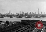 Image of buildings at port New York United States USA, 1954, second 27 stock footage video 65675072572