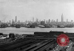 Image of buildings at port New York United States USA, 1954, second 28 stock footage video 65675072572