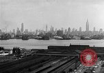 Image of buildings at port New York United States USA, 1954, second 30 stock footage video 65675072572