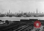 Image of buildings at port New York United States USA, 1954, second 31 stock footage video 65675072572
