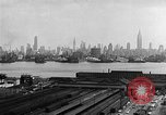 Image of buildings at port New York United States USA, 1954, second 34 stock footage video 65675072572