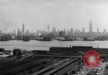 Image of buildings at port New York United States USA, 1954, second 35 stock footage video 65675072572