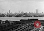 Image of buildings at port New York United States USA, 1954, second 36 stock footage video 65675072572