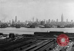 Image of buildings at port New York United States USA, 1954, second 37 stock footage video 65675072572