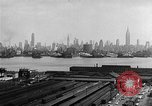 Image of buildings at port New York United States USA, 1954, second 38 stock footage video 65675072572