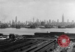 Image of buildings at port New York United States USA, 1954, second 39 stock footage video 65675072572