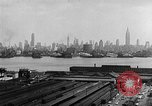 Image of buildings at port New York United States USA, 1954, second 41 stock footage video 65675072572