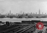 Image of buildings at port New York United States USA, 1954, second 42 stock footage video 65675072572