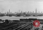 Image of buildings at port New York United States USA, 1954, second 43 stock footage video 65675072572