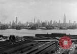 Image of buildings at port New York United States USA, 1954, second 44 stock footage video 65675072572