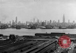 Image of buildings at port New York United States USA, 1954, second 46 stock footage video 65675072572