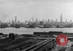 Image of buildings at port New York United States USA, 1954, second 47 stock footage video 65675072572