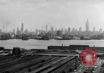 Image of buildings at port New York United States USA, 1954, second 49 stock footage video 65675072572