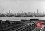 Image of buildings at port New York United States USA, 1954, second 50 stock footage video 65675072572