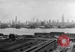 Image of buildings at port New York United States USA, 1954, second 51 stock footage video 65675072572
