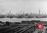 Image of buildings at port New York United States USA, 1954, second 54 stock footage video 65675072572