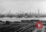 Image of buildings at port New York United States USA, 1954, second 55 stock footage video 65675072572