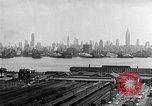 Image of buildings at port New York United States USA, 1954, second 57 stock footage video 65675072572