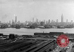 Image of buildings at port New York United States USA, 1954, second 58 stock footage video 65675072572