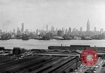 Image of buildings at port New York United States USA, 1954, second 59 stock footage video 65675072572