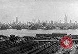Image of buildings at port New York United States USA, 1954, second 60 stock footage video 65675072572