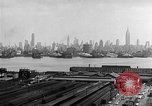 Image of buildings at port New York United States USA, 1954, second 61 stock footage video 65675072572