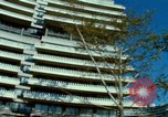 Image of modernistic apartment Washington DC USA, 1966, second 16 stock footage video 65675072582