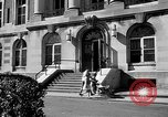 Image of campus building New York United States USA, 1962, second 33 stock footage video 65675072592