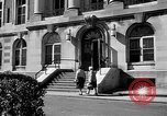 Image of campus building New York United States USA, 1962, second 38 stock footage video 65675072592