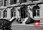 Image of campus building New York United States USA, 1962, second 42 stock footage video 65675072592