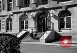 Image of campus building New York United States USA, 1962, second 43 stock footage video 65675072592