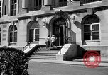Image of campus building New York United States USA, 1962, second 46 stock footage video 65675072592