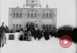 Image of outdoor church service Siberia, 1918, second 34 stock footage video 65675072599