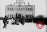 Image of outdoor church service Siberia, 1918, second 40 stock footage video 65675072599