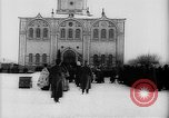 Image of outdoor church service Siberia, 1918, second 42 stock footage video 65675072599
